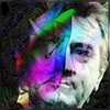 Dieter Bruhns, Male Face, People, Abstract Art