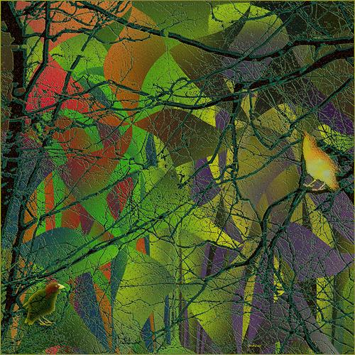 Dieter Bruhns, Digital Suite in Green Major, Pre´lude, Abstract art, Abstract Art