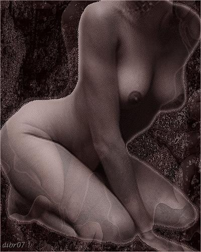 Dieter Bruhns, TorsoDarkred, Erotic motifs: Female nudes, Fantasy, Contemporary Art, Abstract Expressionism