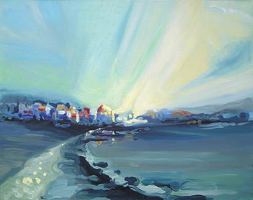 Diana Krasselt, Willkommen!, Landscapes: Beaches, Nature: Water, Contemporary Art