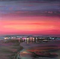 Diana-Krasselt-Landscapes-Sea-Ocean-Romantic-motifs-Sunset-Contemporary-Art-Contemporary-Art