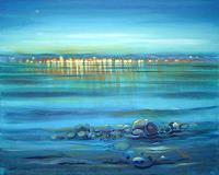 Diana-Krasselt-Landscapes-Sea-Ocean-Landscapes-Summer-Modern-Age-Modern-Age