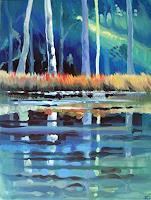 Diana-Krasselt-Nature-Wood-Landscapes-Summer-Modern-Age-Modern-Age