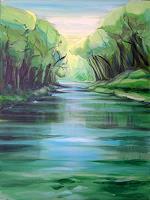 Diana-Krasselt-Nature-Water-Landscapes-Summer-Modern-Age-Modern-Age