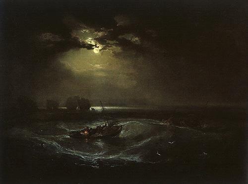 William Turner, Fishermen at Sea, Landscapes: Sea/Ocean, Verkehr: Ship, Romanticism