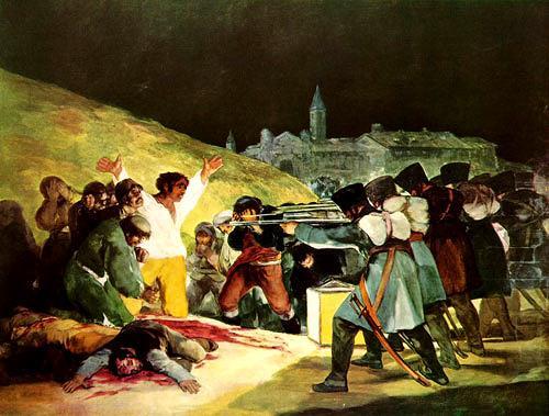 Francisco José de Goya, The Shootings of May Third, War, Emotions: Aggression, Classicism