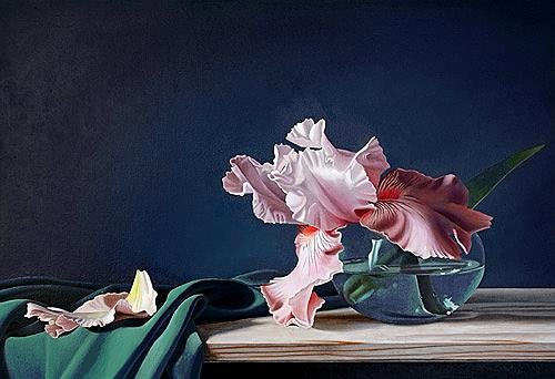 Dietrich Moravec, Verblassende Erinnerung, Plants: Flowers, Still life, Photo-Realism, Expressionism