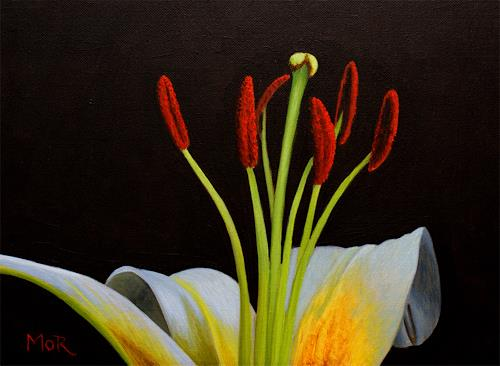 Dietrich Moravec, Tanz der Staubgefäße/Dance of stamens, Decorative Art, Plants: Flowers, Realism, Expressionism