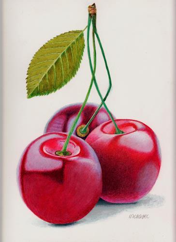 Dietrich Moravec, Cherry Triple, Plants: Fruits, Meal, Realism, Expressionism