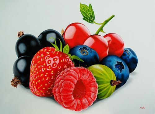 Dietrich Moravec, Beerenauslese II, Plants: Fruits, Meal, Photo-Realism, Expressionism