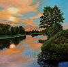 Dietrich Moravec, Sunset on the River