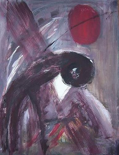 Petra Tränkner, Gebeugt, Abstract art