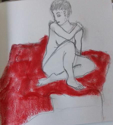 Petra Tränkner, Sitzende, People, Abstract Art