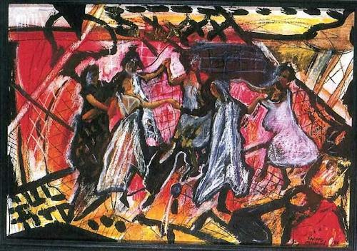 Michael Thomas Sachs, Der Tanz, Decorative Art, Concrete Art