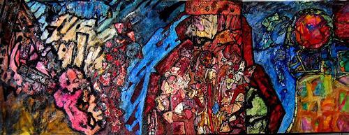 Michael Thomas Sachs, Große Landschaft, Abstract art, Abstract Art