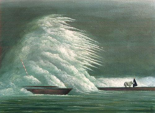 Hinrich van Hülsen, Ruhig wurde es nicht mehr, Nature: Water, Fantasy, Abstract Art, Expressionism