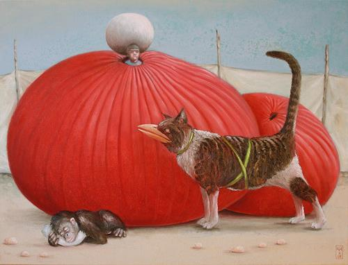 Hinrich van Hülsen, Der Wetterbeobachter, Fantasy, Fairy tales, Abstract Expressionism