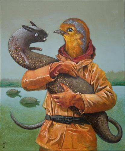 Hinrich van Hülsen, Die Jagd ist beendet, Animals: Water, Animals: Air, Post-Surrealism, Abstract Expressionism