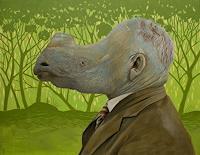 Hinrich-van-Huelsen-People-Men-Animals-Land-Contemporary-Art-Post-Surrealism