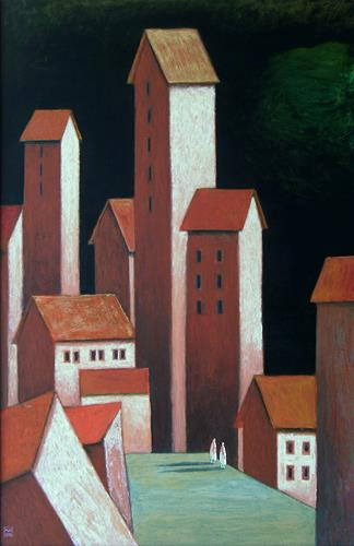 Hinrich van Hülsen, Die Dämmerung der Melancholie, Architecture, Fantasy, Post-Surrealism