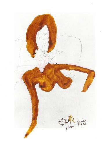 Reiner Poser, KLEINE BRAUNGEBRANNTE, Erotic motifs: Female nudes, Art Brut