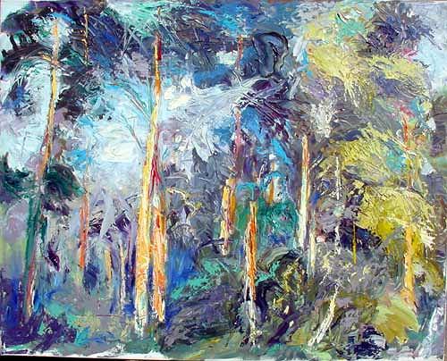 Reiner Poser, Brandenburger Waldstück, Landscapes: Plains, Neo-Expressionism