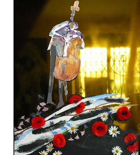 Reiner Poser, My weeping bass and roses for all lovin' women, Decorative Art, Pluralism, Abstract Expressionism