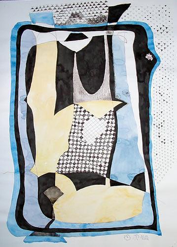 Reiner Poser, Gerastertes Objekt, Abstract art, Arte Cifra, Abstract Expressionism