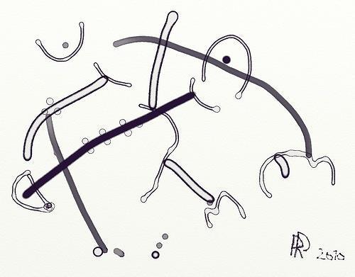 Reiner Poser, Wangenküsse und Umarmungen, Abstract art, Contemporary Art