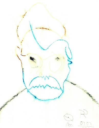 Reiner Poser, Vereistes Selbstporträt, People: Faces, Neo-Expressionism