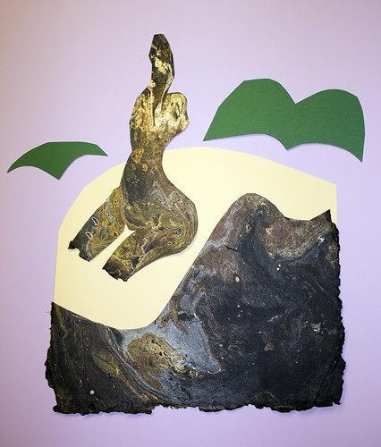 Reiner Poser, Die Frau auf der Felsenklippe, People: Women, Contemporary Art