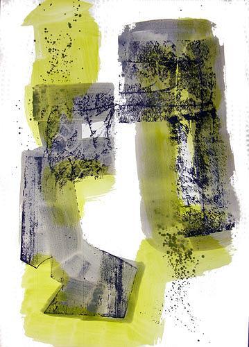 Reiner Poser, Grau und Grün, Abstract art, Arte Cifra, Expressionism