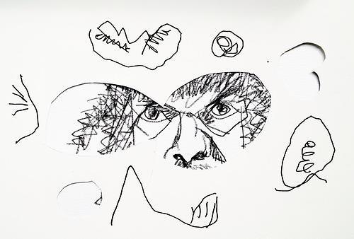 Reiner Poser, Das Arbeitsgedächtnis wird in 3sec. überschrieben!, People: Faces, Conceptual Art