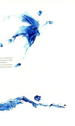 Reiner Poser, Blaue Gestalten auf poetischer Seite..., Fantasy, Abstract art, Contemporary Art