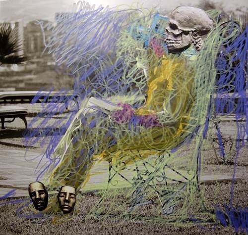 Reiner Poser, Der Tod im Liegestuhl, Emotions: Depression, Art Déco, Abstract Expressionism