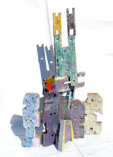 Reiner Poser, Bright eyed bushy tailed tower, Abstract art