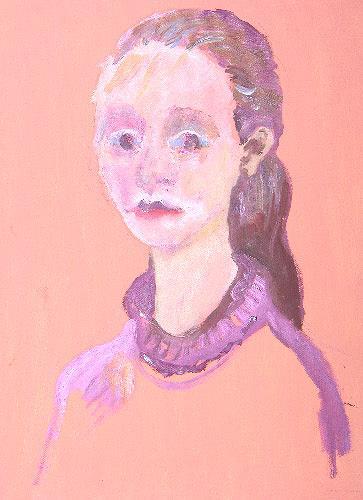 Reiner Poser, Porträt Anja, People: Portraits, Spurensicherung