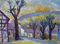 Reiner-Poser-Landscapes-Spring-Modern-Age-Expressive-Realism