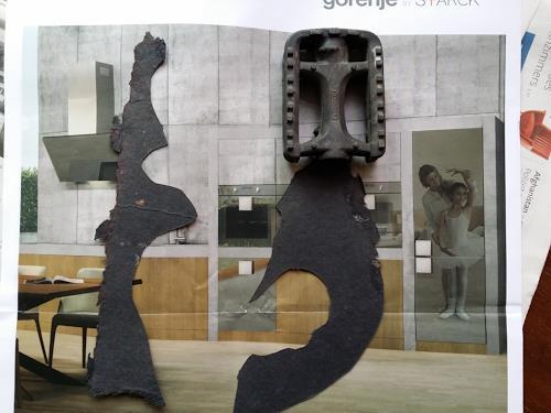 Reiner Poser, Tänzchen hinten und vorne, Burlesque, Spurensicherung, Abstract Expressionism