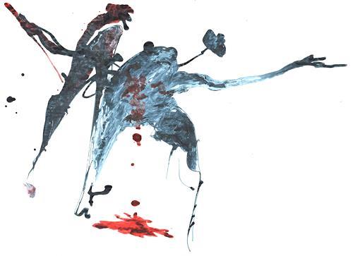 Reiner Poser, Macbeth, Miscellaneous People, Spurensicherung, Abstract Expressionism
