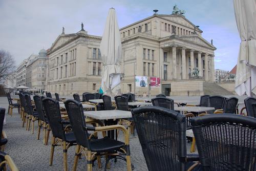 Reiner Poser, Am Morgen II Gendarmenmarkt, Architecture, Society, Hyperrealism