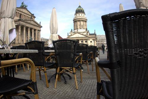 Reiner Poser, Am Morgen III Gendarmenmarkt, Architecture, Hyperrealism