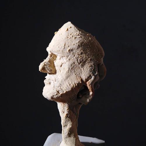 Reiner Poser, Kleiner Nachdenklicher, People, People: Faces, Contemporary Art, Abstract Expressionism