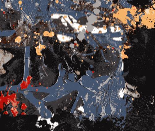 Reiner Poser, Am Rande des schwarzen Lochs, Abstract art, Non-Objectivism [Informel], Abstract Expressionism
