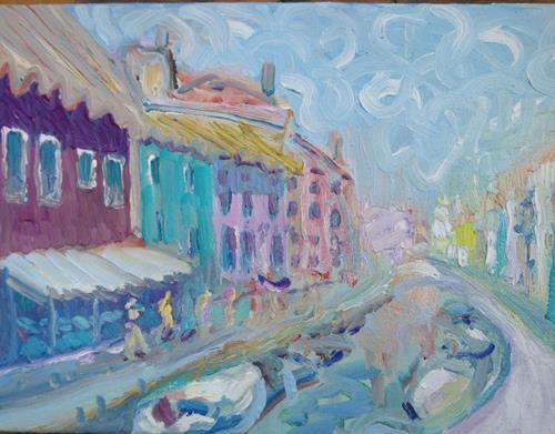Reiner Poser, Mitten in Murano, Landscapes, Neo-Expressionism