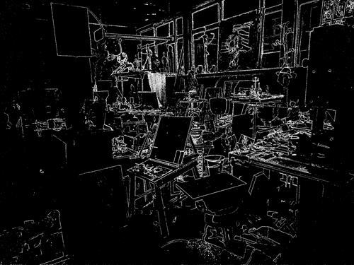 Reiner Poser, Mitternacht im Atelier, Architecture, Hyperrealism, Abstract Expressionism