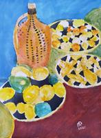 Reiner-Poser-Plants-Fruits-Modern-Age-Expressionism-Abstract-Expressionism