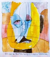 Reiner-Poser-People-Faces-Modern-Age-Expressionism-Abstract-Expressionism
