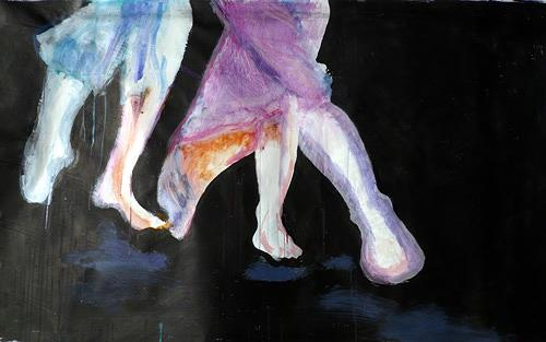 Reiner Poser, Pas de Deux, People: Couples, Neo-Expressionism, Contemporary Art