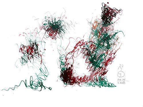Reiner Poser, Der Schuhputzer des Kardinals, Abstract art, Art Brut, Abstract Art, Modern Age